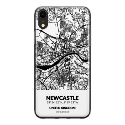 Newcastle, Royaume-Uni - Plan de la ville