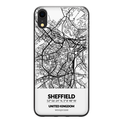 Sheffield, Royaume-Uni - Plan de la ville